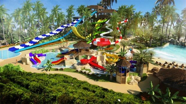 Punta Cana legújabb gyöngyszeme közvetlenül a lélegzetelállító tengerparton helyezkedik el, a reptértől kb. 30 km-re. Saját vízi parkjában hullámmedence, relax medence és a legizgalmasabb csúszdák – pl Kamikaze, Space Bowl, Black Hole – várják a vendégeket, természetesen a kicsikről sem megfeledkezve, ők a számukra kialakított külön gyermekmedencébe csobbanva élhetik át a dominikai nyaralás élményeit.