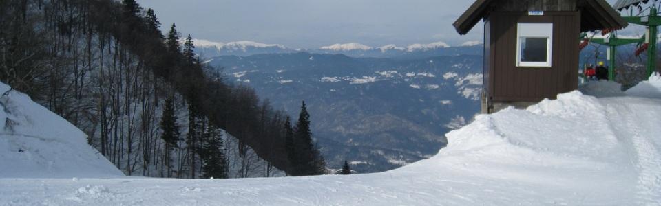 Sípálya Szlovéniában: Kobla