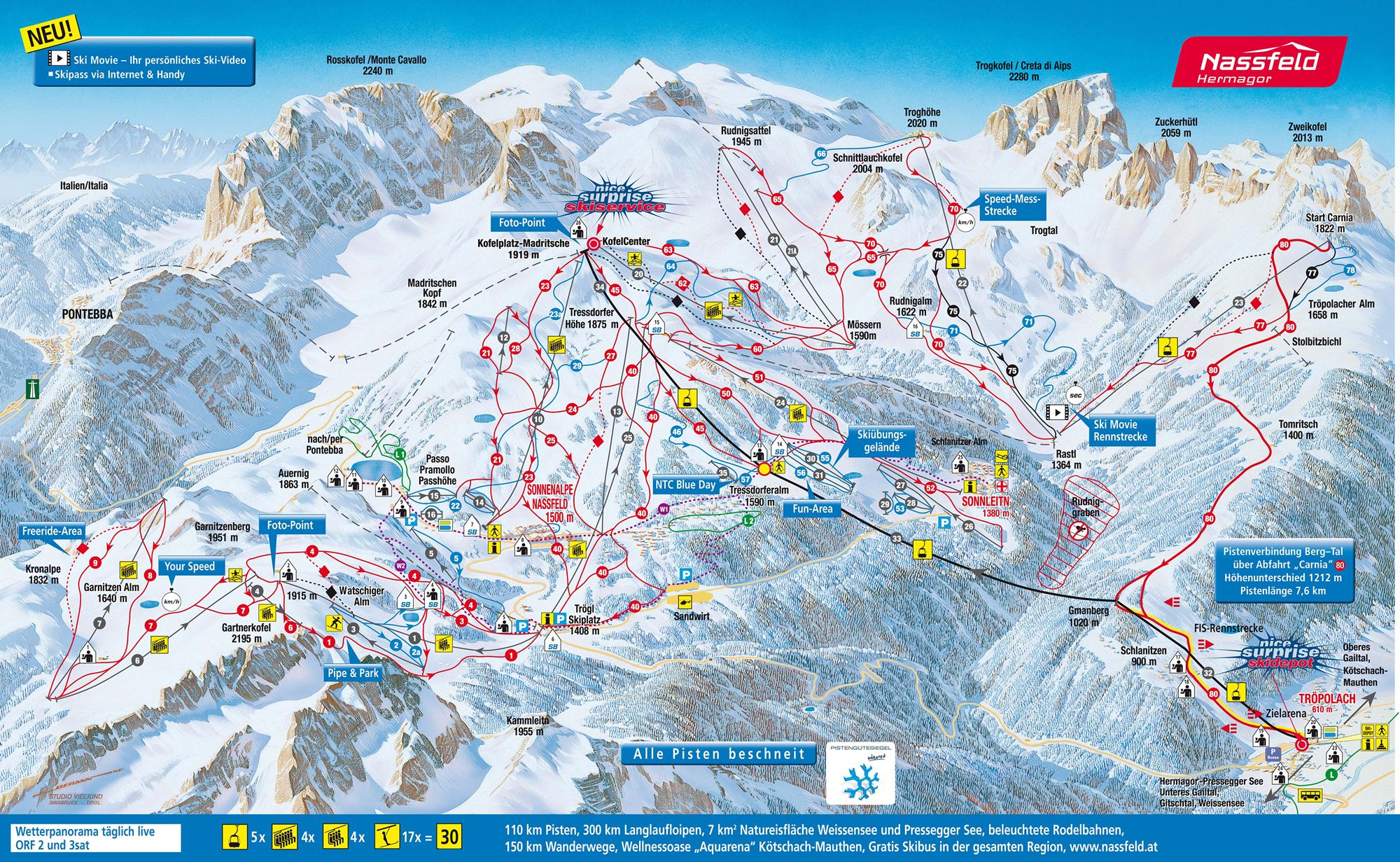 S el s karinti ban bad kleinkirchheim nassfeld koralpe for Turracher hohe skigebiet