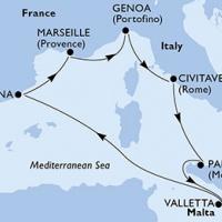 MSC MERAVIGLIA - Mediterrán tájak a márciusi hosszú hétvégén