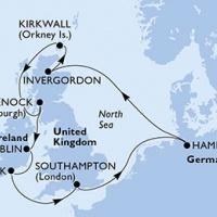 MSC MERAVIGLIA - Skócia és Írország felfedezése a májusi hosszú hétvégén