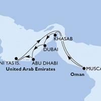 MSC SPLENDIDA - Fedezze fel az arab kincseket luxushajóval Dubaiból!