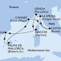 Mediterrán kalandok Buszos hajóút Magyar idegenvezetővel! MSC Seaview