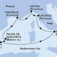 Mediterrán csodák Repülős hajóút Magyar idegenvezetővel! MSC Fantasia