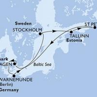 8 nap Észak-Európa a MSC Splendida fedélzetén Repülős hajóút Magyar idegenvezetővel! MSC Splendida