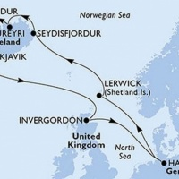Mítoszok földjén- Izland és Skócia felfedezése  Repülős hajóút Magyar idegenvezetővel! MSC Peziosa