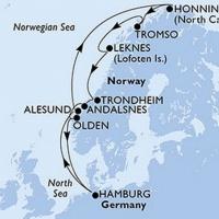 Az igazi norvég csodák Repülős hajóút Magyar idegenvezetővel! MSC Orchestra