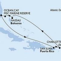 Karibi szépségek Repülős hajóút Magyar idegenvezetővel! MSC Seaside