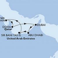 Kelet fényei - Egyesült Arab Emirátusok Repülős hajóút Magyar idegenvezetővel! MSC Seaview