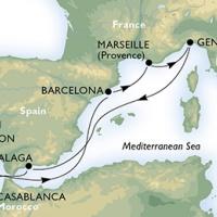 MSC SPLENDIDA - Olaszország, Spanyolország, Marokkó, Portugália, Franciaország érintésével